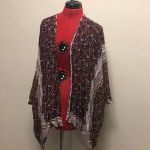 Floral Poncho style Cardigan